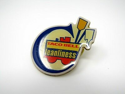 Vintage Collectible Pin: Taco Bell Cleanliness