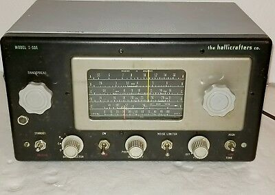 Hallicrafters S-53A AM & 4 Short Wave Tube Receiver Ham Radio
