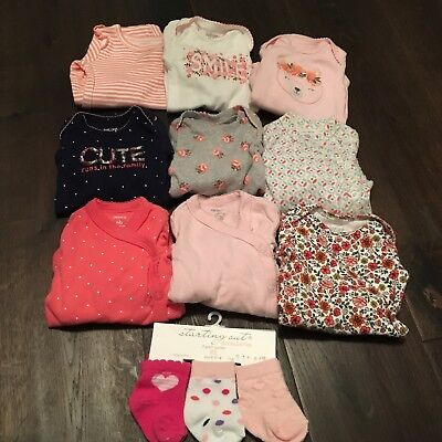 newborn baby girl clothes lot carters brand
