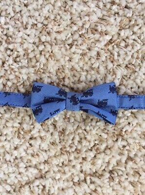 Janie And Jack Boys Blue Train Bow Tie. Up To 3