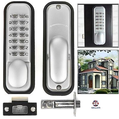New Push Button Mechanical Digital Combination Code Door Lock Keyless Access S/C