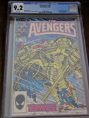 AVENGERS # 257 CGC 9.2 White Pages 1st Appearance Nebula Key Infinity War issue