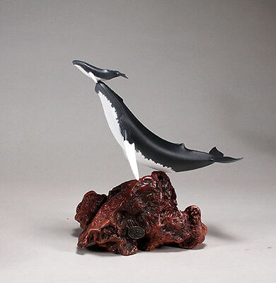 HUMPBACK WHALE and Calf Sculpture New direct from JOHN PERRY 11in tall Figurine