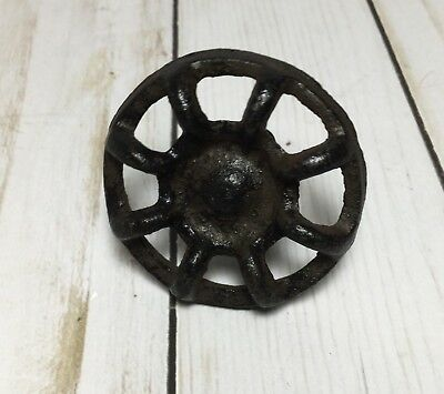 Cast Iron Round Faucet Brown Industrial Steampunk Cabinet Drawer Knob Pull
