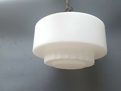 Vintage Art Deco Federation Ceiling Glass Shade Lamp Light Fitting.