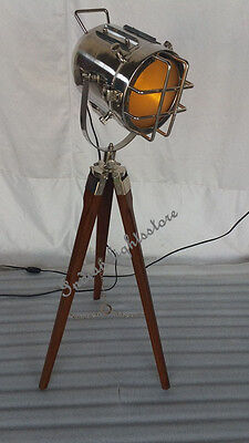 Vintage Designers Chrome Finish Floor Spot Light With Adjustable  Tripod /stand
