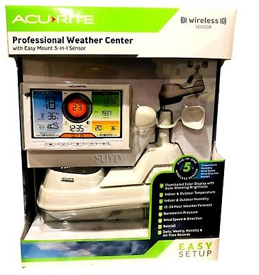 Acurite Wireless Professional Weather Station 5-in-1 w/Colour Monitor Phone App!