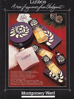 Vintage Lutece Houbigant Perfume Fragrance Advertisement 1984 Montgomery Ward