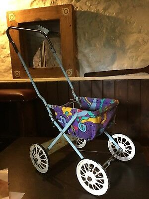 Vintage 1950's Triang Metal doll's Pushchair childs toy Rare Shabby Chic.