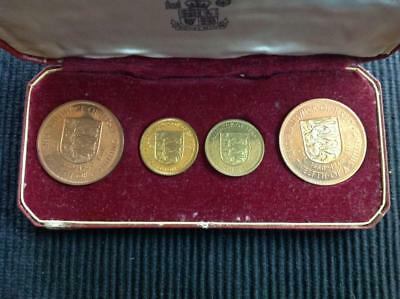 1960 Royal Mint Jersey 4 Coin Proof Set In Original Mint Issue Case