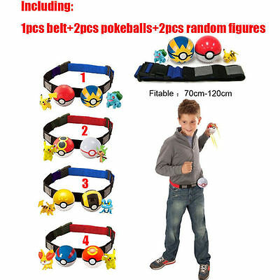 US SHIP Xmas Gift Pokemon Clip n Carry Kids Adjustable Poke Ball Belt Pretend