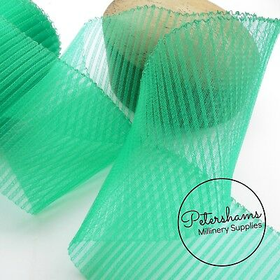 Pleated 15 cm (6 inch) Wide Crinoline Crin, Horsehair Braid for Millinery - 1m