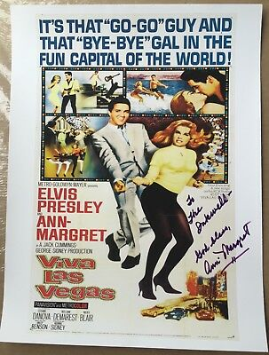Actress Ann Margret Autographed Viva Las Vegas Poster OBTAINED IN-PERSON