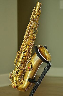Rare 1929 C G Conn Burnished Gold Plated Portrait Transitional Alto Saxophone