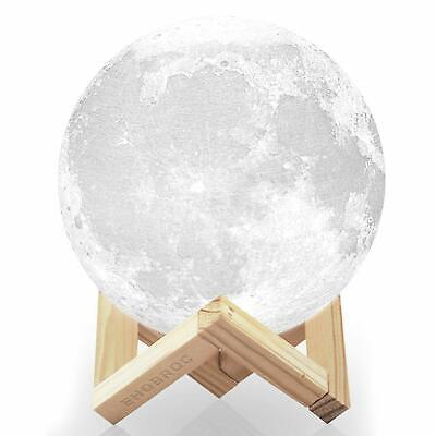 Light Moon Lamp 3D Magical Led Night Table Usb Desk Touch Luna Charging Control