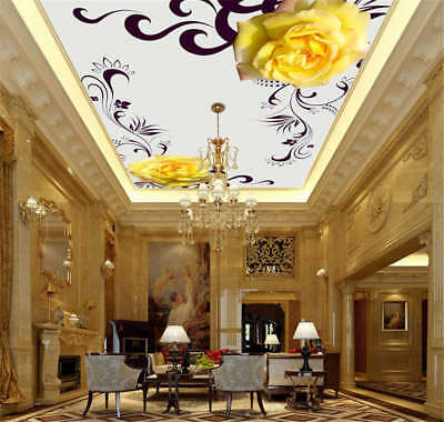 Superb Yellow Petal 3D Ceiling Mural Full Wall Photo Wallpaper Print Home Decor