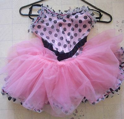 Curtain Call 2-piece Dance Costume Pink & Black Size Child Medium StyleE1588