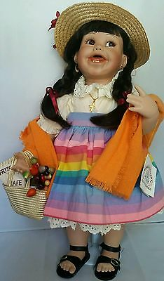 "Cindy Marschner's ""Leila"" Toddler Doll -20"" Tall - Adorable - Not often for sale"