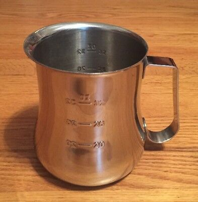 Stainless Steel 18-10 Espresso Milk Frothing Pitcher - Bell Shape - 32 Ounce