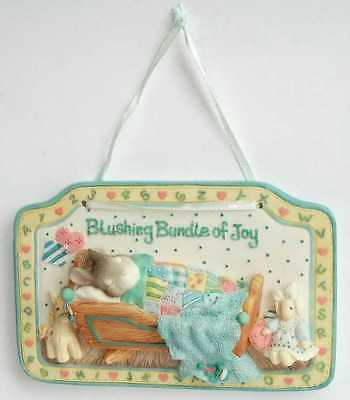 My Blushing Bunnies - Wall Plaque Shield - BLUSHING BUNDLE OF JOY - 295779