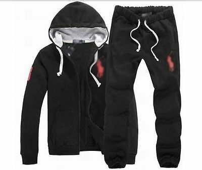 Men's Casual Hoody Sweat+Pants Track Jacket Hooded Guard Coats Sweat Suits 2018
