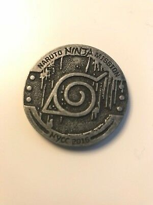 NYCC 2015 Comic Con Viz Media Naruto Shippuden Ninja Mission Promo Coin New