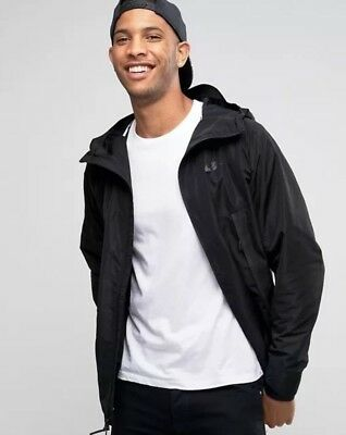 Mens Nike Bonded Parka Jacket Black Size Medium New With Tags ($200) 805112-010