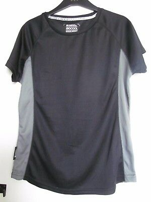 Mountain Warehouse Ladies Shaped Technical Base Layer Size14 Black Grey New