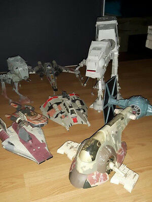 Star Wars Raumschiffe/Fahrzeuge: Slave 1, AT-AT, AT-ST, X-Wing, A-Wing, usw POTF