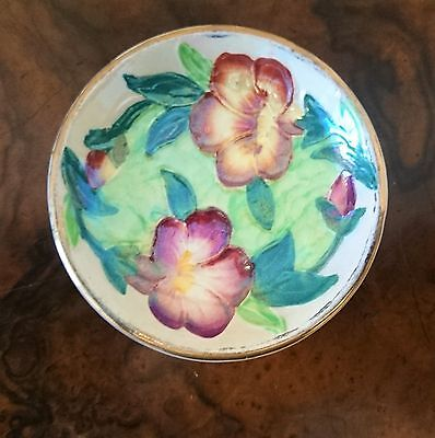 Maling Ware Newcastle On Tyne Pansy Lustre Ware Trinket Ring Dish Art Deco