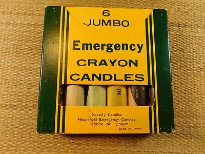 Jumbo Emergency Crayon Candles Scented