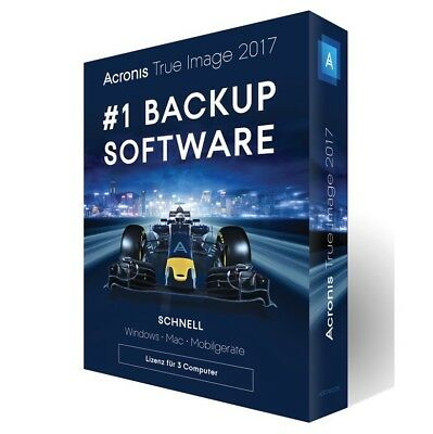 Acronis True Image 2017 3-Geräte -Backup- Windows / MAC / Android - Box
