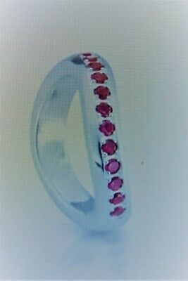 HEARTBREAKER designed by DRACHENFELS RING wave silber rote steine Gr.56 LD-MR-13