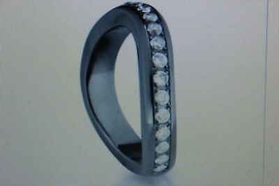 HEARTBREAKER designed by DRACHENFELS RING wave black ruthenium stein weiss Gr.60