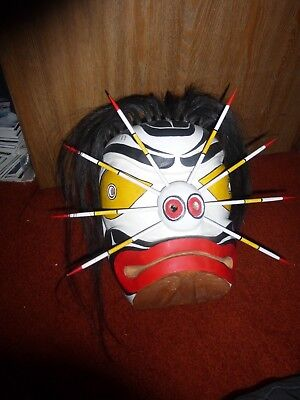 "Northwest Coast-First Nation hand carved cedar ""Bumble Bee"" maskl!  Must See!"