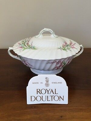 Royal Doulton BELL HEATHER SCALLOPED Round Covered Vegetable ~ Lot 1