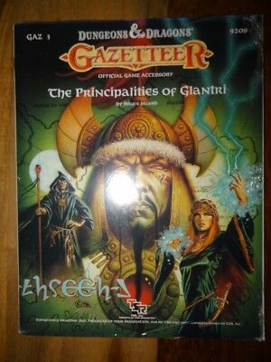 TSR 9208 Gazetteer -The Principalities of Glantri- NEW SEALED & SHRINK WRAP D&D1