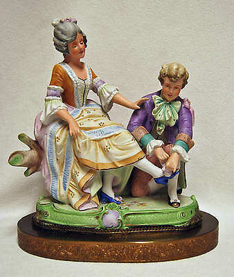 Antique Victorian Bisque Grafenthal Germany Thuringia Grouping Couple Figurine