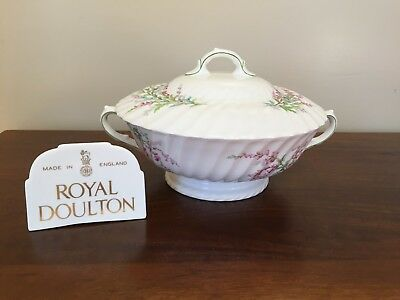 Royal Doulton BELL HEATHER SCALLOPED Round Covered Vegetable ~ Lot 2