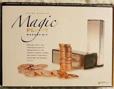 Magic Penny Magnet Kit Royal Institution Dowling Magnets Trick Kit Miss 7 coins