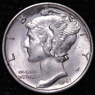 BU 1941-S Mercury Dime           K8AM