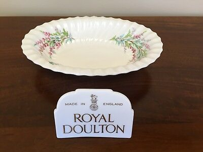 Royal Doulton BELL HEATHER SCALLOPED Oval Vegetable Bowl ~ Lot 2