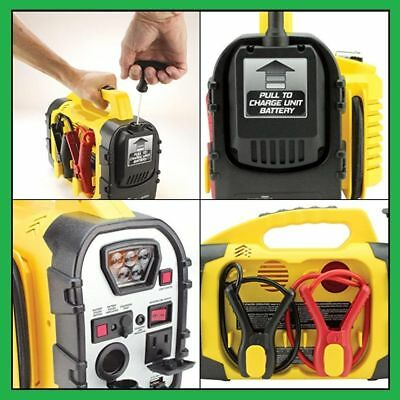 8 In 1 Portable Power Source Emergency Jump Start Cables Air High Pressure