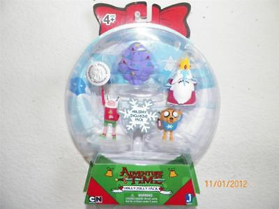 ADVENTURE TIME Christmas Holly Jolly Exclusive 4 Pack Lumpy Ice King Jake Finn