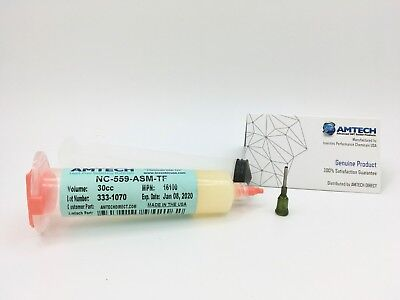 AMTECH NC-559-ASM-TF No-clean Tacky Solder Flux (ROL0) 30cc Kit USA MPN 16100