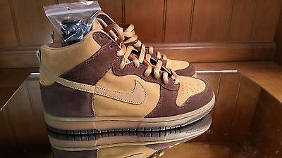 2003 Nike Dunk High Pro SB BROWN PACK MAPLE HAY BAROQUE WHEAT DS 10