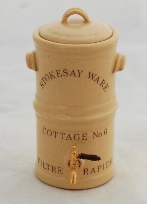 Dollhouse Miniature Stokesay Ware Victorian Pottery Water Cooler Filter England