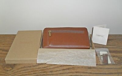 Longaberger Country Estates Leather Zip Wallet~New in Box~ Free Shipping