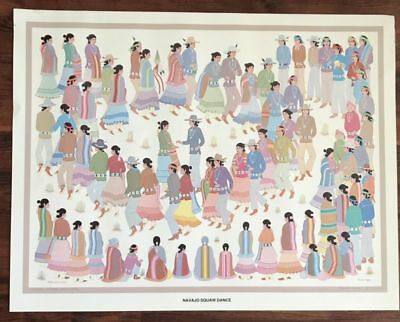 """Harrison Begay Print Of Navajo Squaw Dance 32 3/4"""" By 25 1/2""""."""