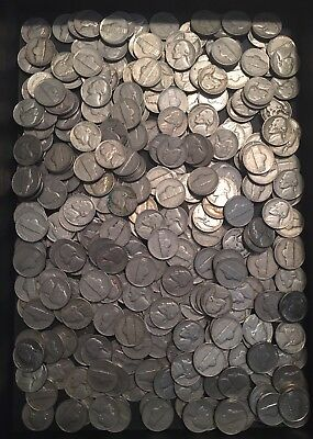 Old Jefferson Nickels 1939-1964 No Silver $17.25 Face Value (345 Nickels)